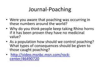Journal-Poaching