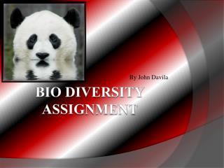Bio diversity assignment