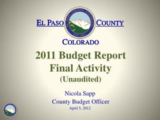 2011 Budget Report  Final Activity (Unaudited)