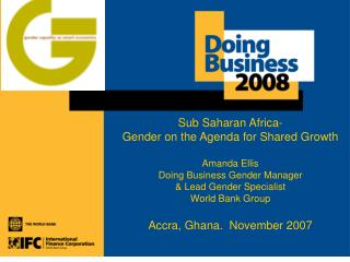 Sub-Saharan Africa - Gender on the Agenda for Shared Growth