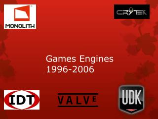 Games Engines 1996-2006