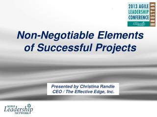 Non-Negotiable Elements of Successful Projects