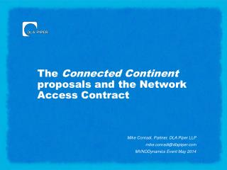 The  Connected Continent  proposals and the Network Access Contract