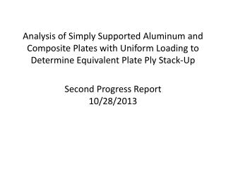 Second  Progress Report 10/28/2013