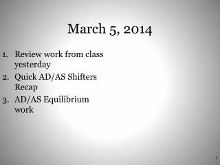 March 5, 2014