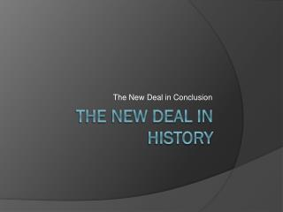 The New deal in history