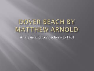 Dover Beach by Matthew Arnold