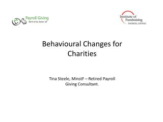 Behavioural Changes for Charities