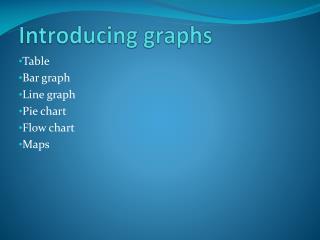 Introducing graphs
