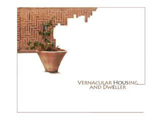 """What is  """" Vernacular """"  housing today?"""