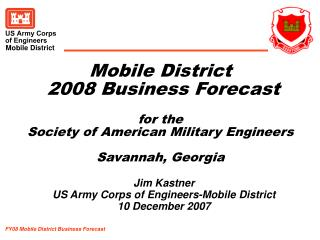 FY08 Mobile District Business Forecast