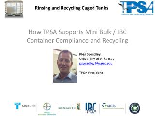 How TPSA Supports Mini Bulk / IBC Container Compliance and Recycling