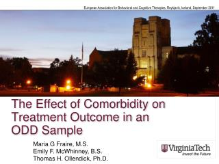 The Effect of Comorbidity on Treatment Outcome in an  ODD Sample