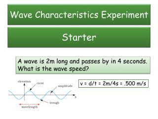 Wave Characteristics Experiment