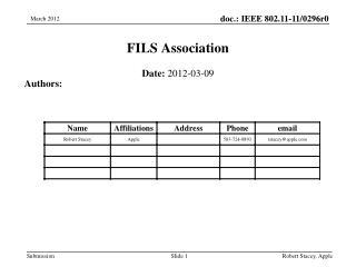 FILS Association