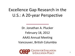 Excellence Gap Research in the U.S.: A 20-year Perspective
