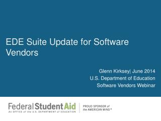 EDE Suite Update  for  Software Vendors