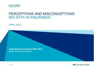 PERCEPTIONS AND MISCONCEPTIONS  BIG DATA IN INSURANCE