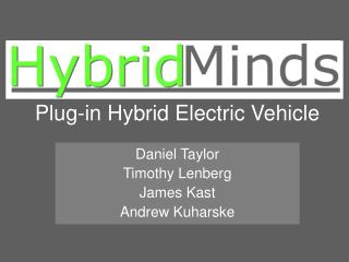 Plug-in Hybrid Electric Vehicle