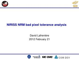 NIRISS NRM  bad  pixel  tolerance analysis