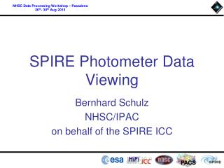 SPIRE Photometer Data Viewing