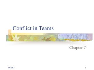 Conflict in Teams