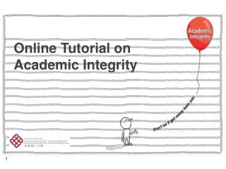 Online Tutorial on Academic Integrity