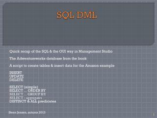 SQL DML