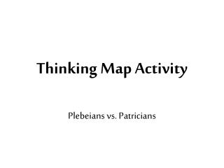 Thinking Map Activity