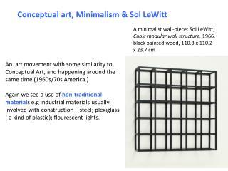 Conceptual art, Minimalism & Sol LeWitt