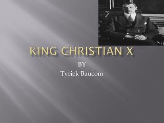 King Christian X