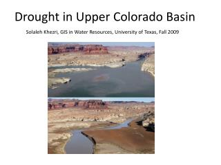 Drought in Upper Colorado Basin