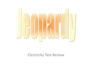 Electricity Test Review