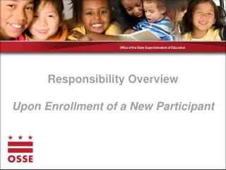 Responsibility Overview Upon Enrollment of a New Participant