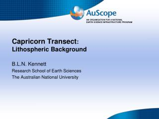 Capricorn Transect :  Lithospheric Background