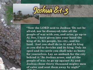 Joshua 8:1-3