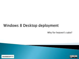 Windows 8 Desktop deployment