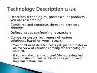 Technology Description  (3/24)