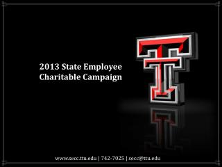 2013 State Employee Charitable Campaign