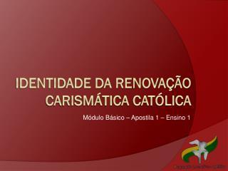Identidade da renova��o carism�tica cat�lica