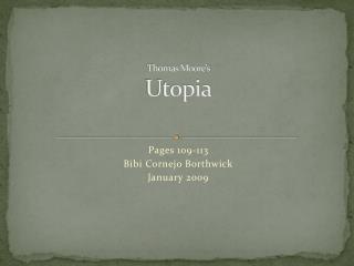 Thomas Moore's Utopia