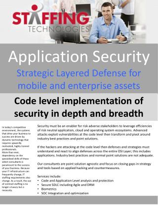 Application Security Strategic Layered Defense for mobile and enterprise assets