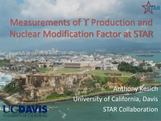 Measurements of   Production and Nuclear Modification Factor at STAR