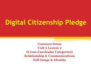 Digital Citizenship Pledge
