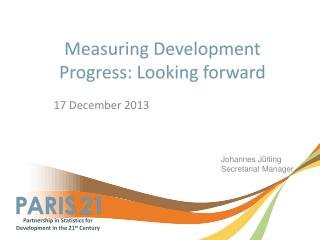 Measuring Development Progress: Looking forward