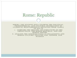 Rome: Republic