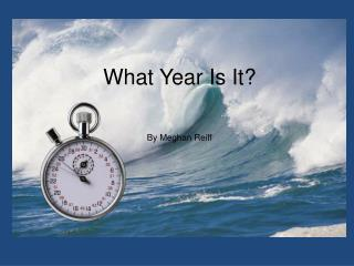 What Year Is It? By Meghan Reiff