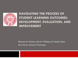 Navigating the Process of Student Learning Outcomes: Development, Evaluation, and Improvement
