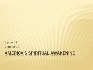 America's Spiritual Awakening