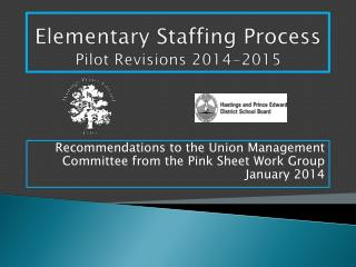 Elementary Staffing Process Pilot Revisions 2014-2015